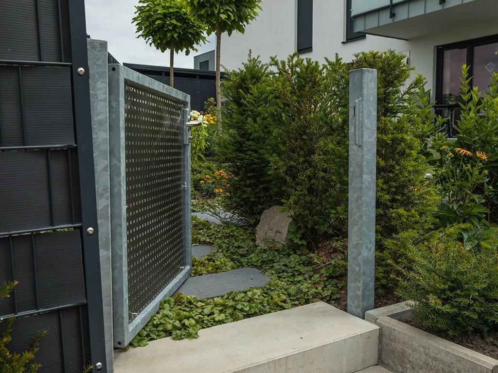 Moderner Garten Mehrfamilienhaus Laggenbeck Porte