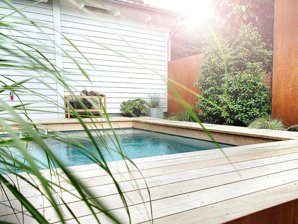 Wasser im Garten - Mini Pool, kleiner Pool modern