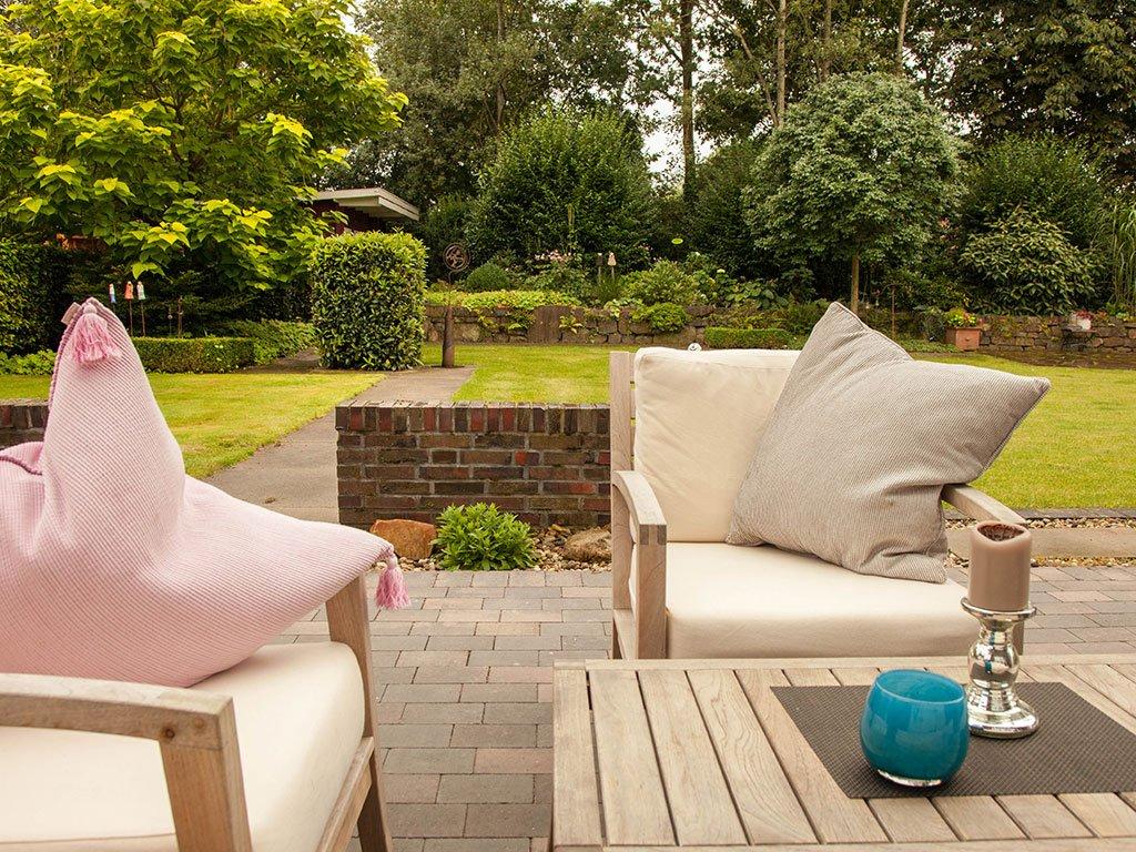 Gartengestaltung Hasbergen mit Sitzecke