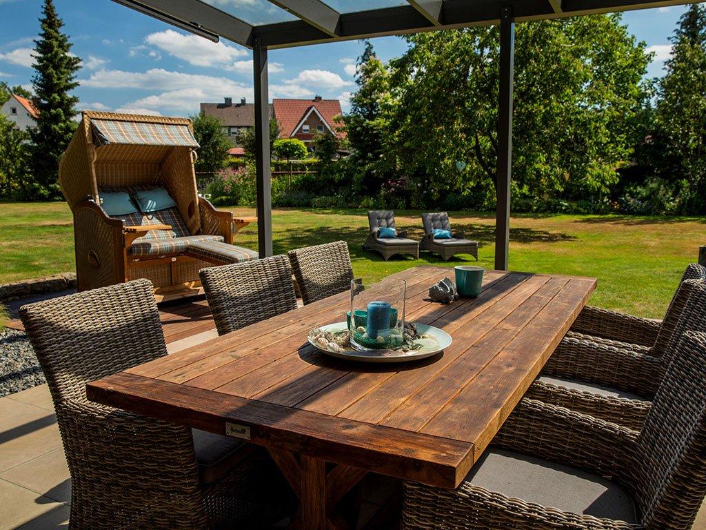 Klassischer Familiengarten Bramsche Sitzecke
