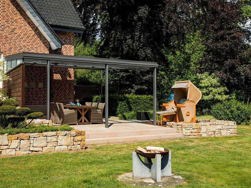 Klassischer Familiengarten Bramsche Terrasse