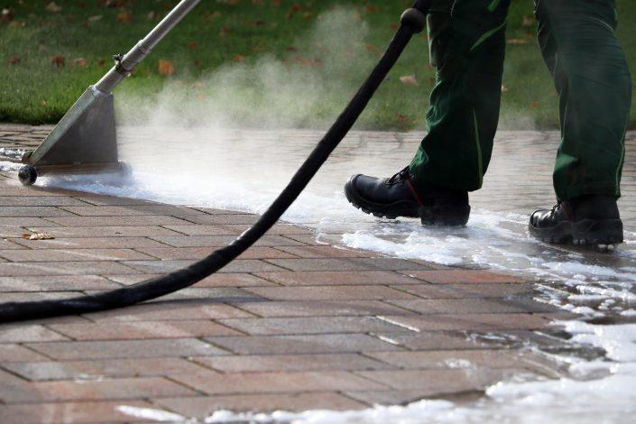 Pflasterreinigung Elmotherm Detail Unkrautbekämpfung thermisch ohne Gift