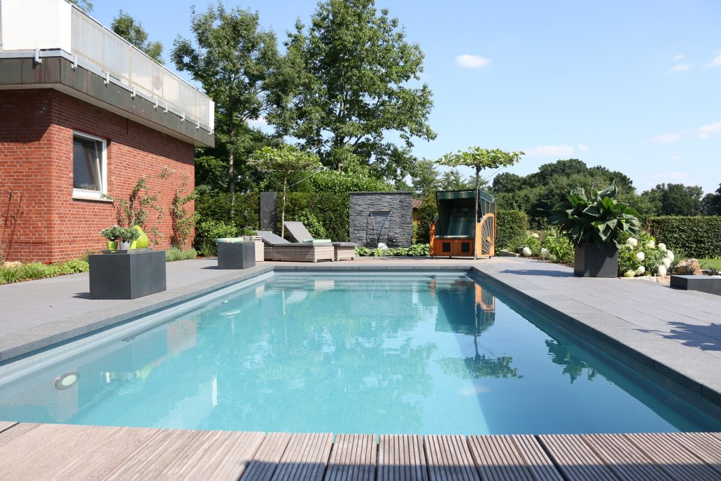 Gartengestaltung mit Pool Osnabrück Ibbenbüren Rheine Emsland